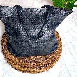 Large over shoulder leather Christopher kon bag